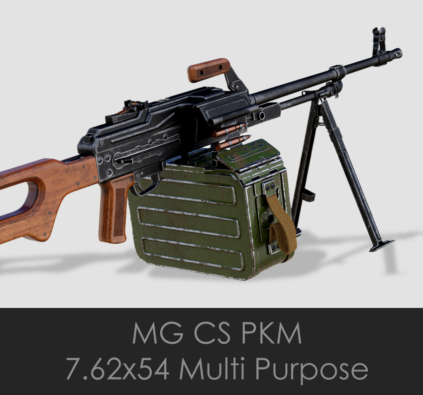 CS PKM Machine Gun (7.62x54mm)