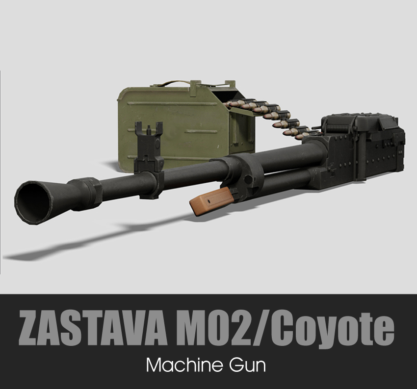 ZASTAVA M02 COYOTE Machine Gun (12.7x108mm /.50 Browning)