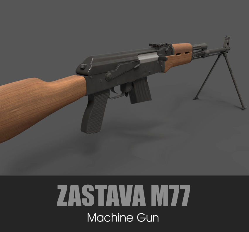 ZASTAVA M77 Light Machine Gun (7.62x51)