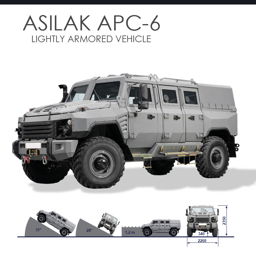 ASILAK APC-6 Lightly Armored Vehicle